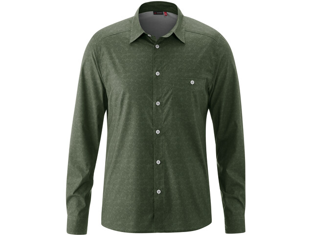 Maier Sports Lorcan T-shirt Manches longues Homme, green allover
